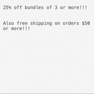 Other - Free Shipping on orders over $50